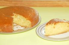 Bizcocho de manzana sin huevo - Postres faciles