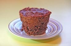 Coulant de chocolate en microondas - Postres fáciles
